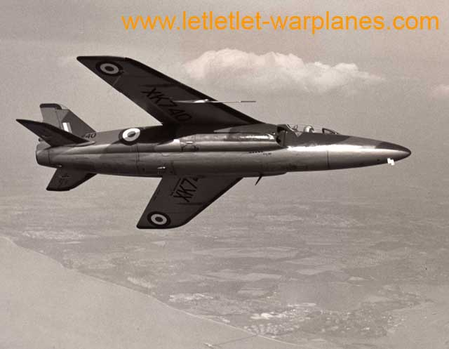 Gnat XK740 was one of the aircraft of the small batch ordered by the R.A.F. for operational evaluation.