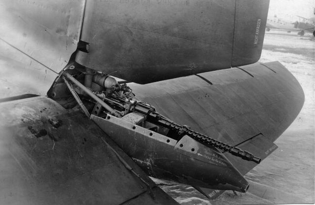 Tail gun on Heinkel He111