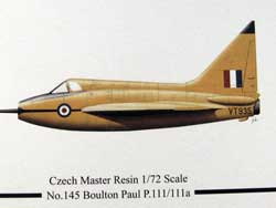 Bolton Paul P.111 resin model kit