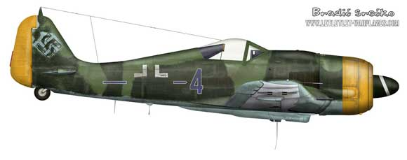 Focke Wulf Fw190F captured at the end of war in CSSR.