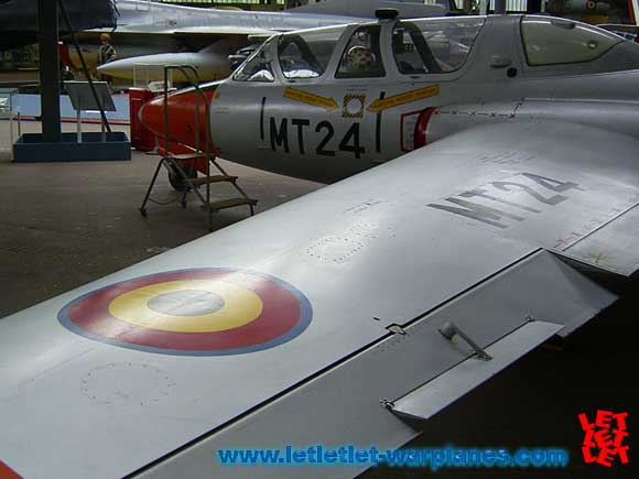 The Fouga Magister in use in Belgian Air Force museum