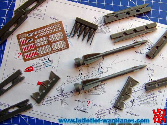 R-27R missiles parts