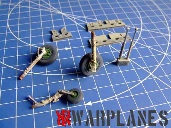 Bronze parts for Eduard MiG-21 in 1/48 scale