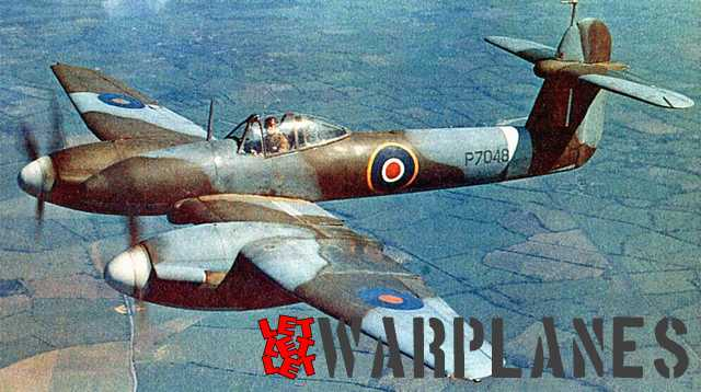 One of the few Westland colour pictures of the Whirlwind showing P7048. The plane carries no guns!  After the war it was flown for some time by Westland carrying civil registration G-AGOI.