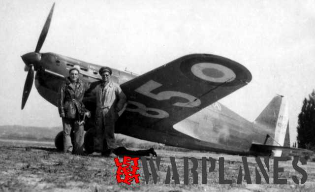 One of the many Morane Saulnier M.S. 406C1 fighters and this one shows the principal marking system used on the lower wing, where the large national insignia is placed at the end of the wing and large white number in the wing centre. (Aero Journal)