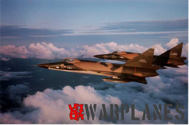 Two multi camouflaged F-102 in flight, they are mostly removed from first line unit and note first letter in registration O which mean Obsolete. Machines featured Case XX wings and underwing tanks.