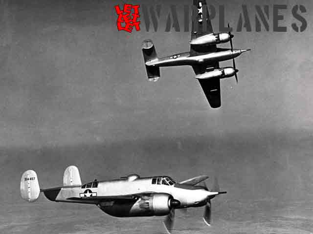 One XA-38 is banking away from the other machine during this photo section. The Grizzly was easy to handle and had for its size a very good manoeuvrability.  (Nico Braas collection)