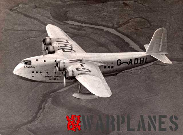 G-ADHL Canopus was the first Short S.23 C-Class civil flying boat and the direct predecessor of the Sunderland.