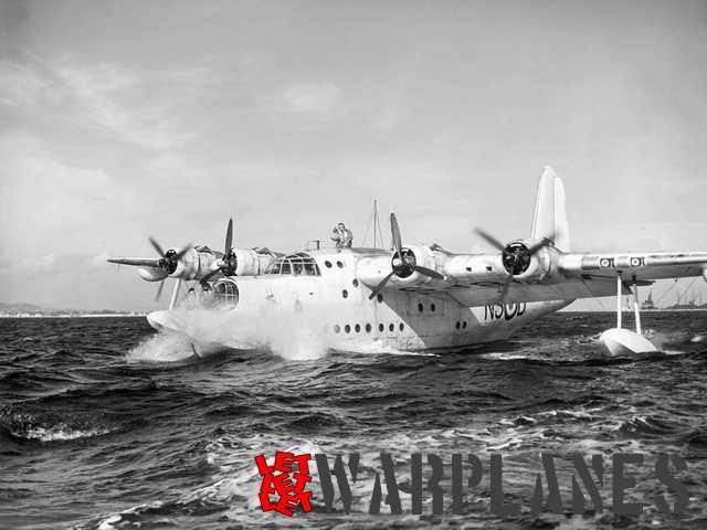 Sunderland Mk. II W3983 at sea.