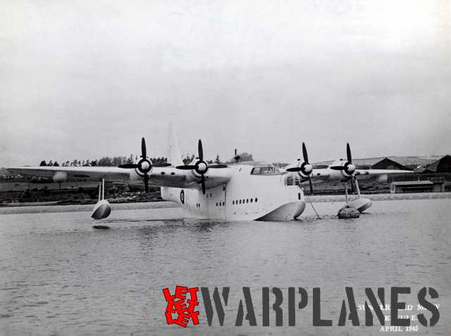 Short Sunderland Mk. IV MZ269 was in fact the first Seaford prototype. The photo was taken in April 1945.