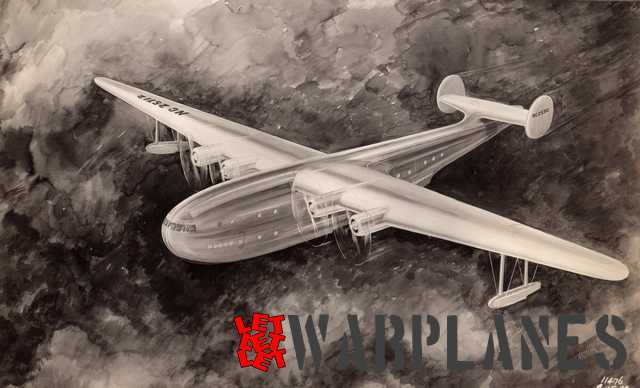 Martin design for a large civil trans-ocean flying boat of 1935. It stood as a model for the later XPB2M-1 Mars.