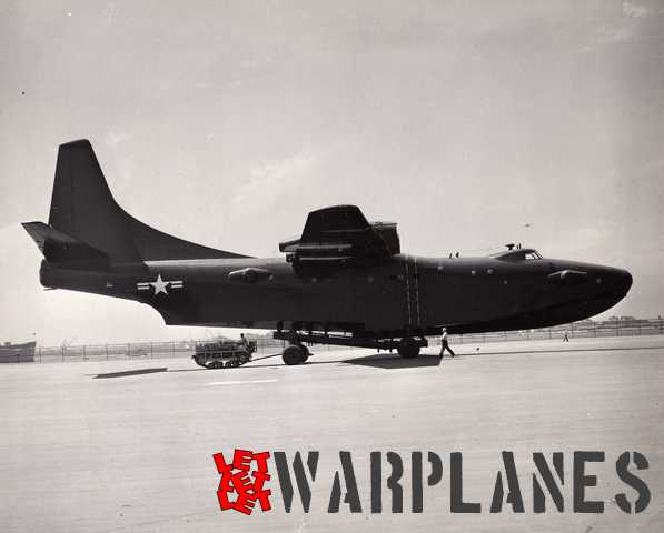 The first XPB5Y-1 prototype no. 1211455 still without its engines. This picture was released by Consolidated Vultee on 10 July 1949. (Consolidated Vultee photo N21388)