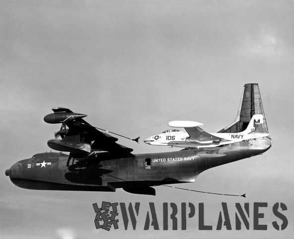 Another in-flight shotof a Tradewind tanker refueling a McDonnell Banshee fighter (Mark Nankivil collection)