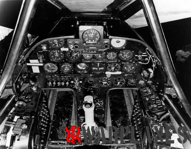 Instrument panel of the first XA2D-1.