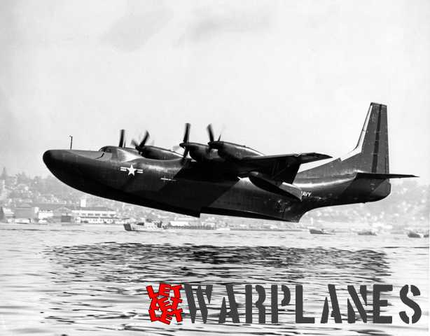Start of the first R3Y-1 Tradewind no. 128445 from the San Diego bay on 25 February 1954. (Consolidated Vultee photo)