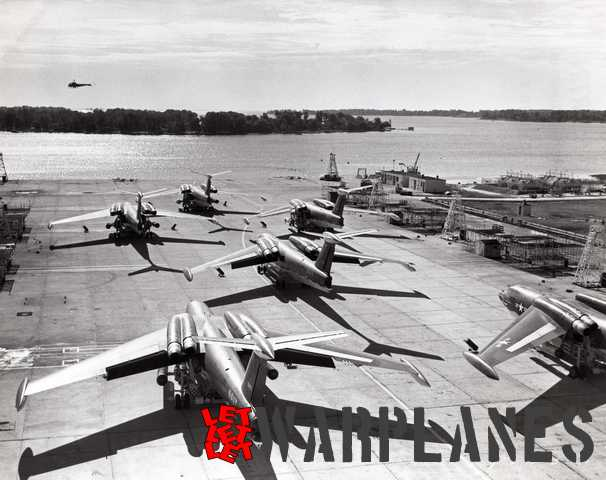 All six YP6M-1 Seamasters on the ramp; a rare sight!