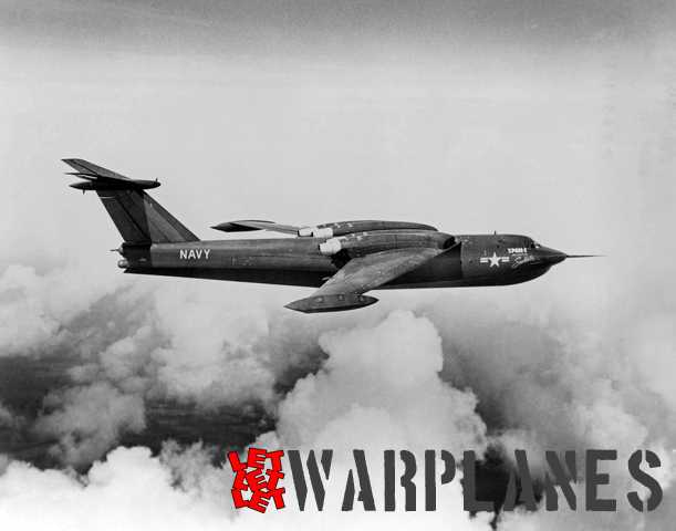 In-flight shot of the all dark blue XP6M-1 prototype.