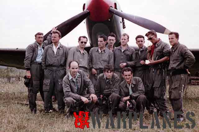 Crew with their Avia B-33