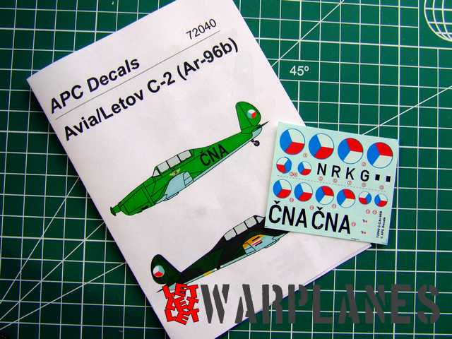 APC decals for Avia C.2 1/72