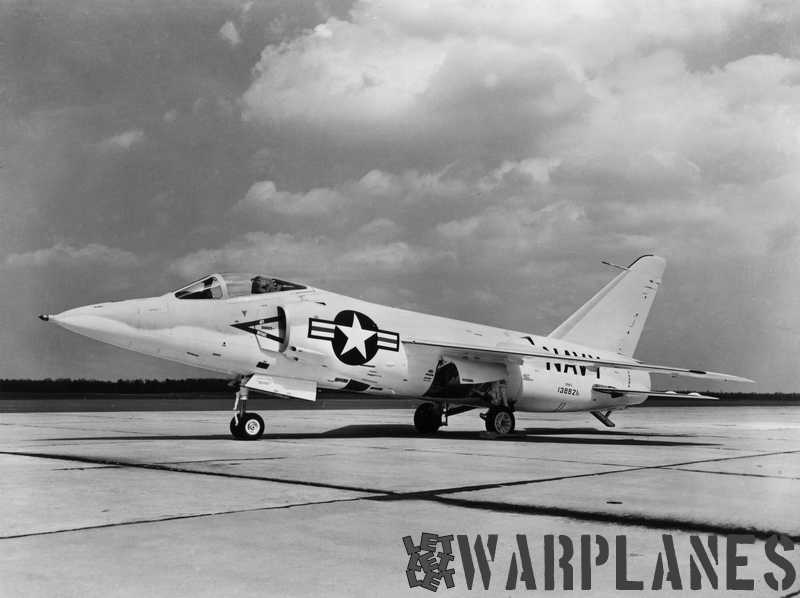 F11F-1 no. 138621 short-nose with the air intake splitter plates, still without any squadron markings. (Grumman photo)