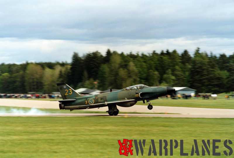 SAAB J 32B from F 3 squadron at Malmslätt during the start. (Photo Jelle Sjoerdsma)