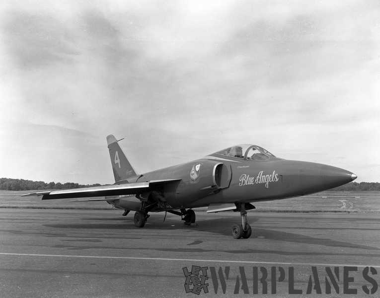 A Blue Angels long-nose Tiger, BuNo. 141764,  flown by Lt. Frank Mezzadri. This picture was taken on11 June 1966. (Mark Nankivil collection)