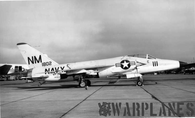 F11F-1 Long-nose no.141802  from VF-191 photographed ashore in 1959. (Mark Nankivil collection)