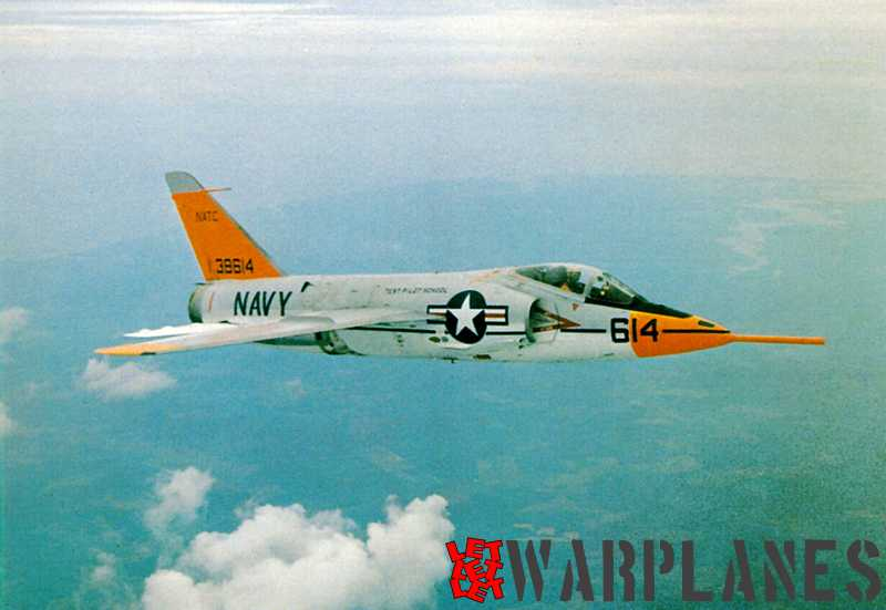 Short-nose F11F-1 Tiger no. 138614 from the Test Pilot School at NATC Patuxent-River (Mark Nankivil collection)