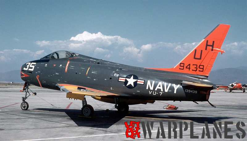 North-American-FJ-4-Fury-drone-of-VU-7-BuNo.-139429-NAAS-Brown-Field-California-USA-in-1960
