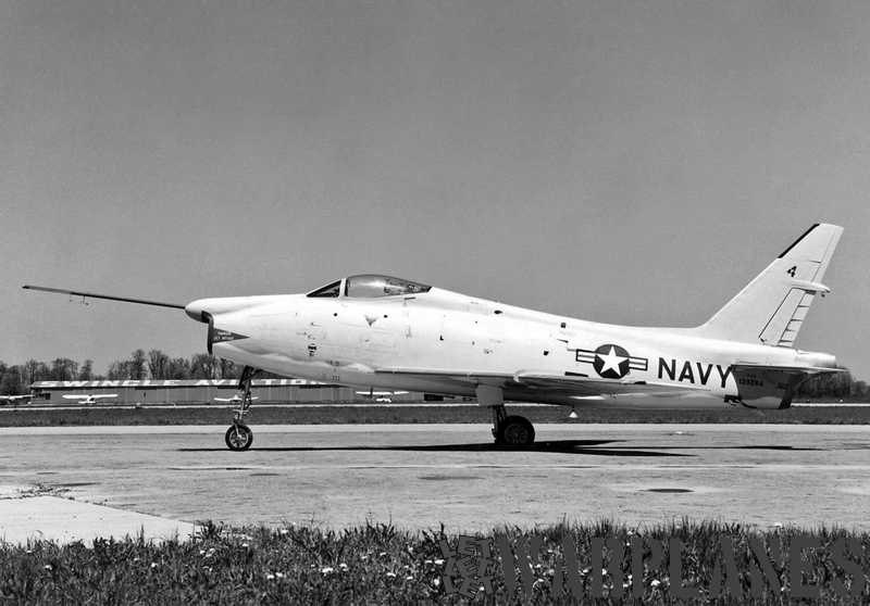 North-American-FJ-4F-Fury-1957-BuNo.-139284-with-rocket-motor-installed