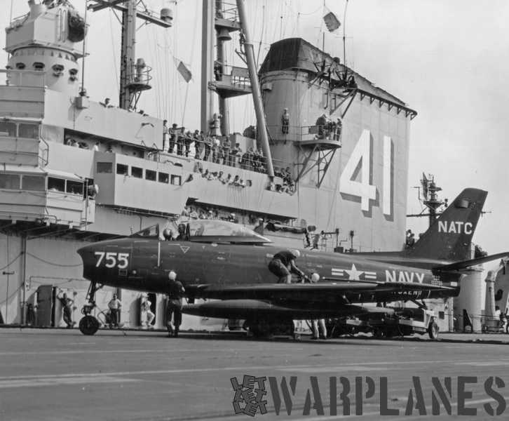 North-American-XFJ-2-2nd-prototype-BuNo.-133755-on-CV-41-USS-Midway