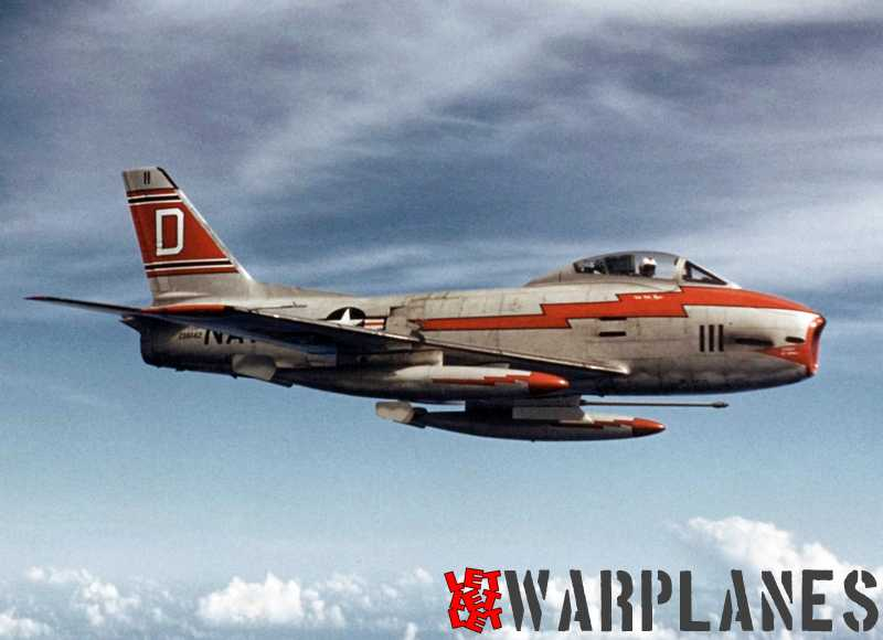 North-American-FJ-3M-Fury-BuNo.-136142-of-VF-121-1957