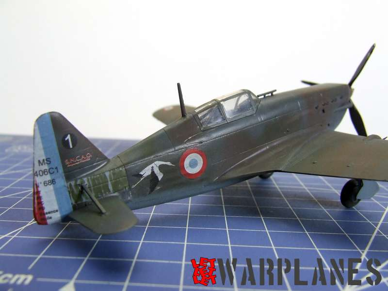 Robert Williame MS 406, one of those he flew in combat. Kit is in 1/72 scale