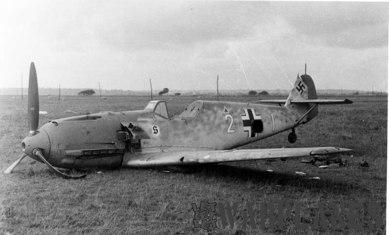 Messerschmitt Me 109E crashed