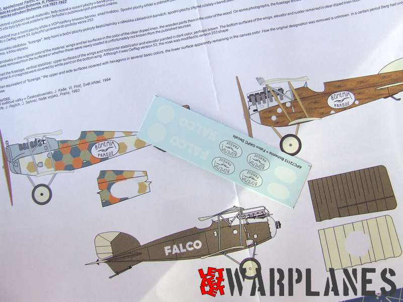 APC decals content, color leaflet with graphic and description and decals