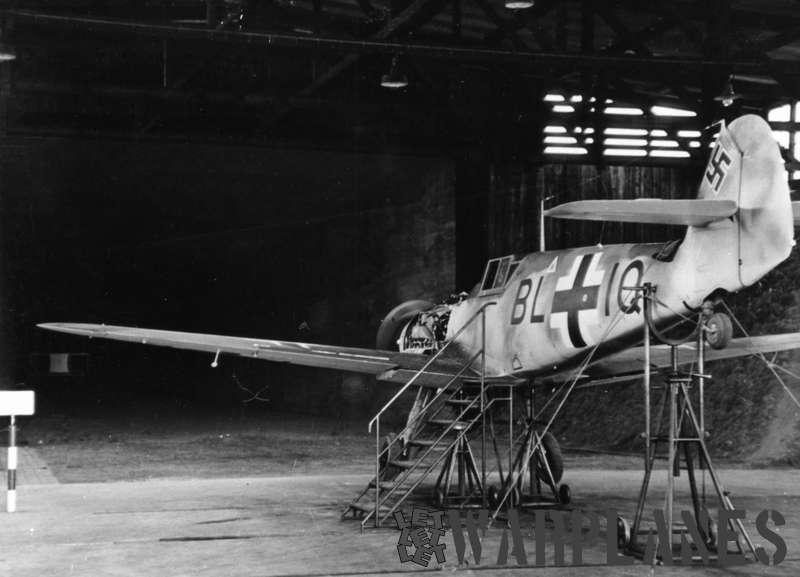 Messerschmitt Me-109F gun alignment test