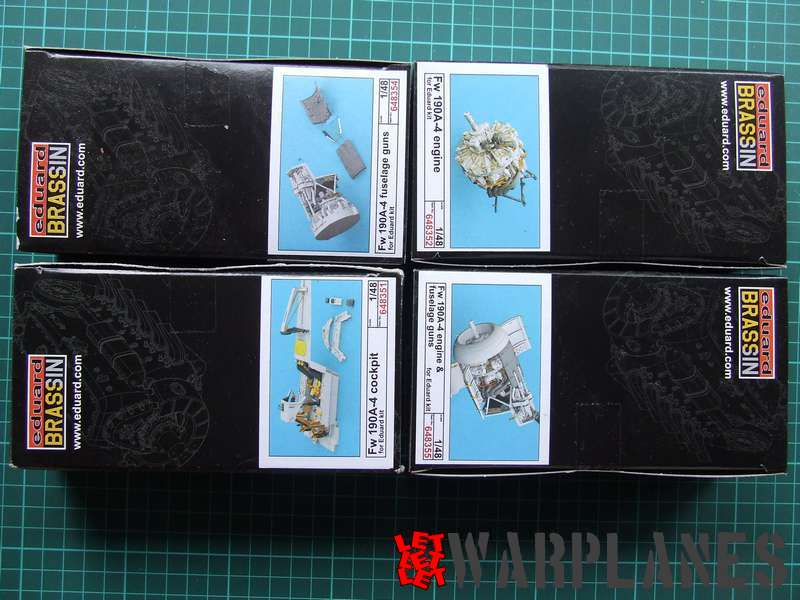 Eduard Fw 190A-4, 1/48 can be updated with additional sets for extra detailed engine and machine gun section