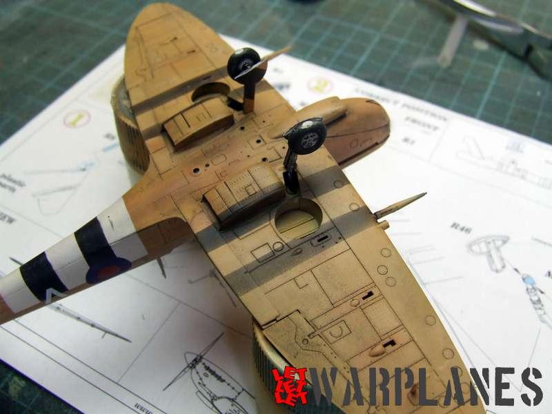 Spitfire Mk.IX bronze landing gear