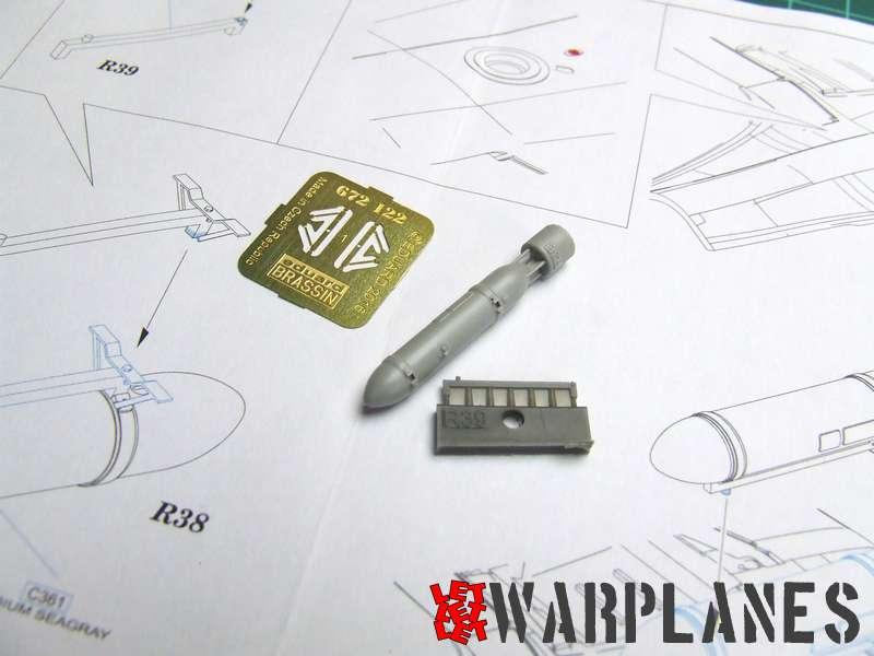 Spitfire drop tank parts