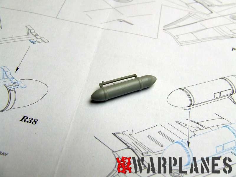 Spitfire drop tank assembled