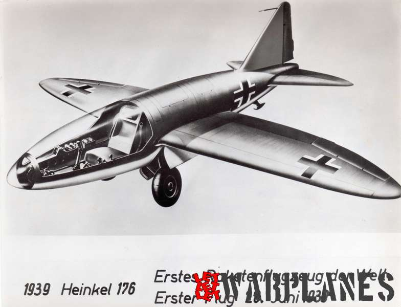 Heinkel He-176V2 artist impression Photo: Heinkel  Copyrights: free