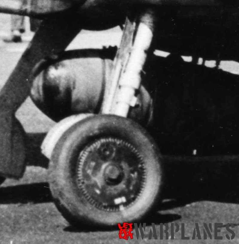 Bf 109G landing gear