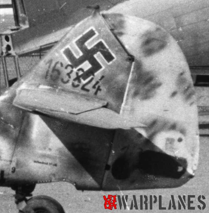 Bf 109G rudder