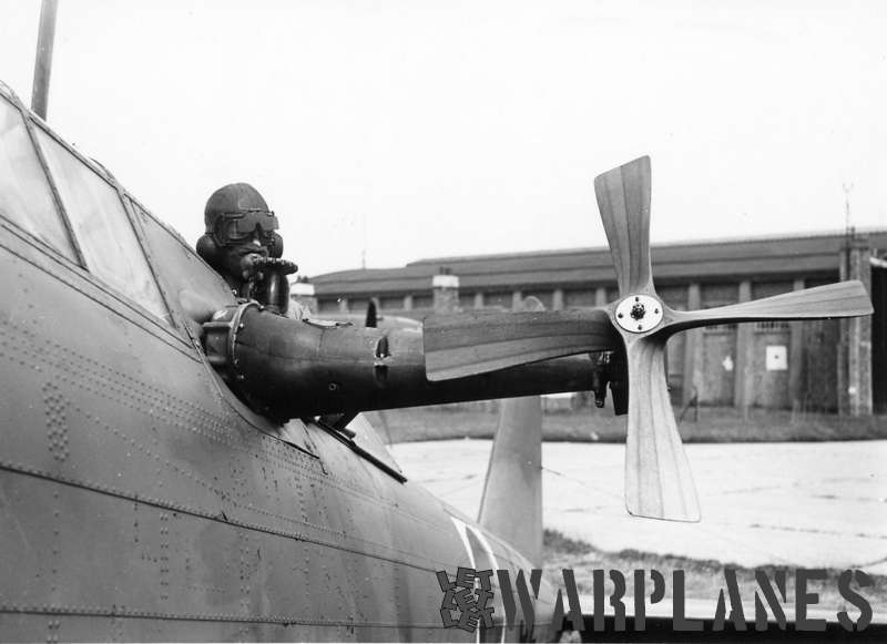 The same Fairey Battle now carrying the Irish national markings and no. 97 on the fuselage. Note winch installation driven by a wooden propeller (Irish AC photo)