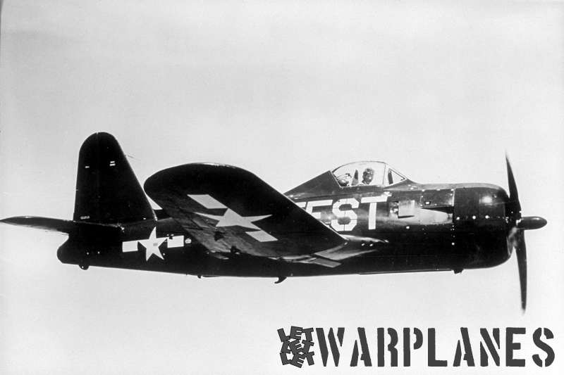 FR-1 no. 39709  as photographed when test flying at NAS Patuxent River , its purpose clearly shown on the fuselage sides