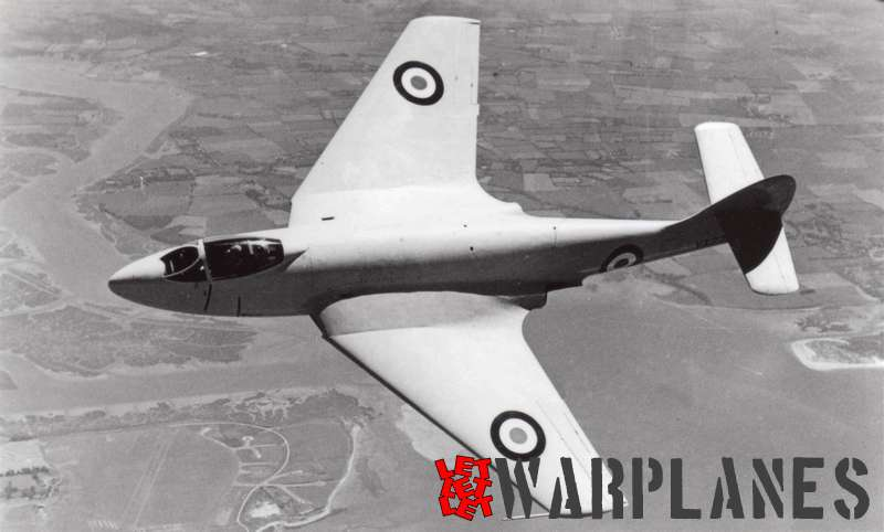 Another shot of the P.1052 VX279, clearly showing its SeaHawk ancestry