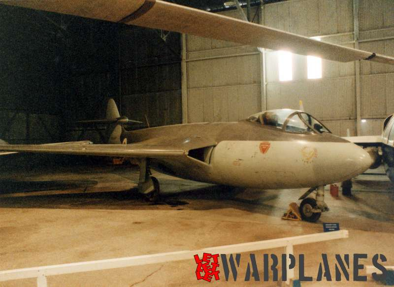 VX272 as photographed in 1985 when it was still displayed in the Cosford Aerospace Museum. Note bullet tail fairing