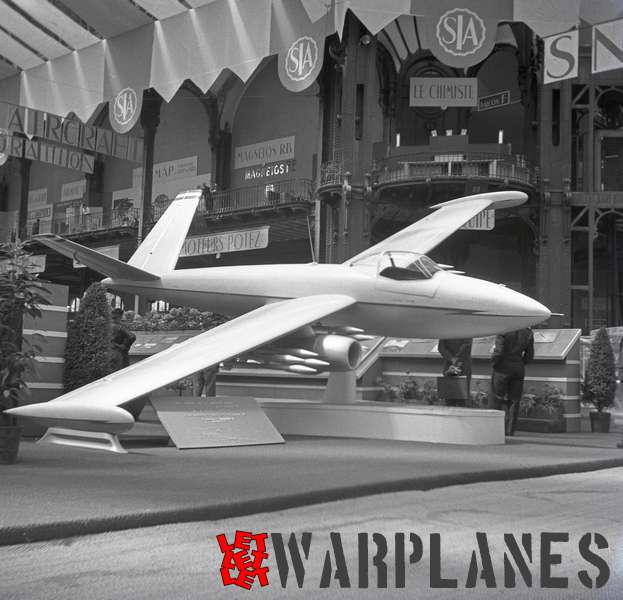 Photo 12. Fouga Lutin Mock-up Aerosalon Paris 1951