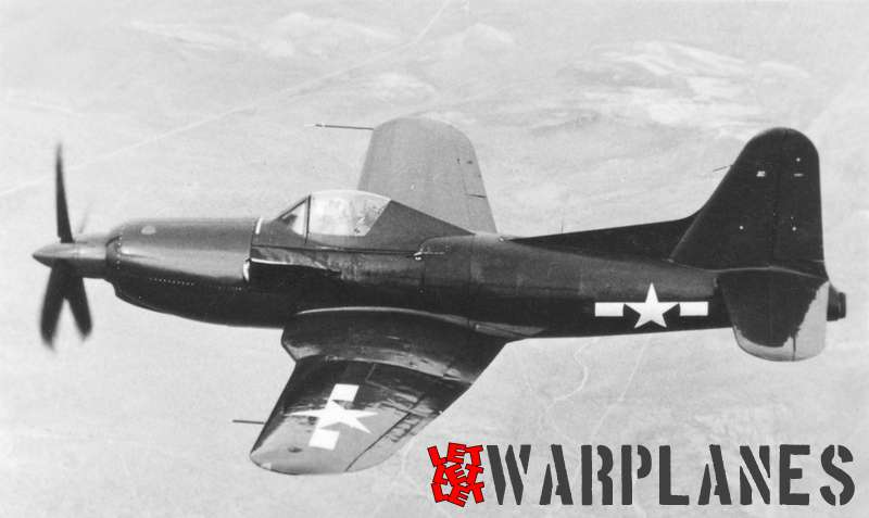 The XF2R-1 on an early test flight. It sill carries the old-style national markings without the red bars.