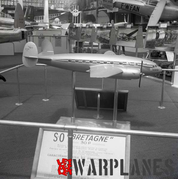 Photo 9 S.N.C.A.S.O SO.30P Bretagne model, Aerosalon Paris 1951